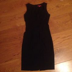 Elegant Black Dress Stretchy straight line black dress. Great for business wear or to dress up. XOXO Dresses