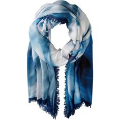 Roberto Cavalli Sky Horse Modal Shawl (Blue) Scarves ($107) ❤ liked on Polyvore featuring accessories, scarves, blue, roberto cavalli, shawl scarves, blue shawl, horse scarves and roberto cavalli scarves