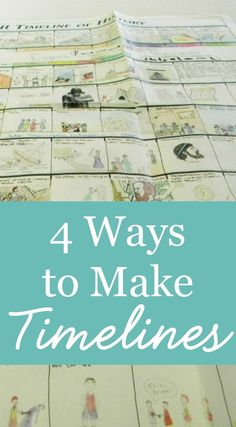 4 ways to make timelines in your homeschool
