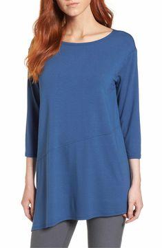 Main Image - Eileen Fisher Asymmetrical Jersey Top