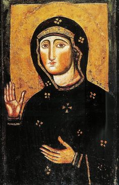 allaboutmary: The Byzantine icon of the Madonna Advocata in the basilica of Santa Maria in Aracoeli, Rome.