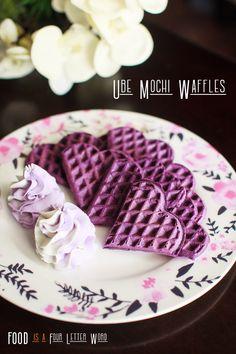 Mochi Waffle Recipe, Waffle Recipes, Ube Mochi Recipe, Ube Recipes, Drink Recipes, Dessert Recipes, Ube Cheesecake Recipe, Key Lime Cheesecake, Recipes With Whipping Cream
