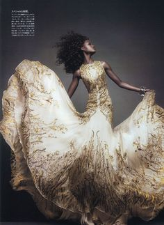 Alexander McQueen Dress worn by Nyasha Matonhodze in Vogue Japan