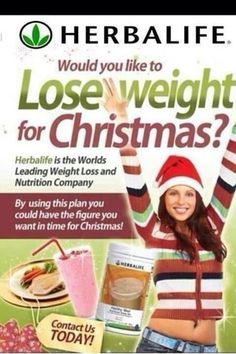 Want to LOSE WEIGHT BEFORE CHRISTMAS to fit into your party dress? Contact Your Independent Herbalife Distributor TODAY! All Herbalife products and nutritional/ beauty/ success advice available from SABRINA INDEPENDENT HERBALIFE DISTRIBUTOR SINCE ...