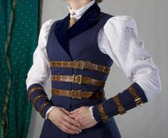 Steampunk Bracers and Vest.