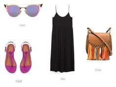 Black in summer 2 by ireneconcello on Polyvore featuring Chloé and Fendi