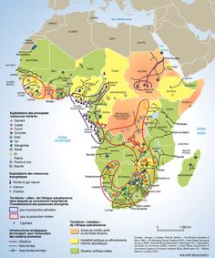Map: Resources of Africa Congo, Cap Vert, African Countries, African History, Ethiopia, Kenya, Fun Facts, Places To Visit, Knowledge