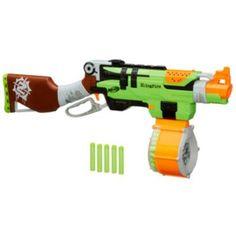 Nerf Zombie Strike SlingFire Blaster Rifle Gun with 25 Dart Drum and 31 Darts Exclusive Limited Edition Big Nerf Guns, Nerf Gun Attachments, Toys For Boys, Kids Toys, Nerf Storage, Pistola Nerf, Nerf Mod, Outdoor Play, Legos