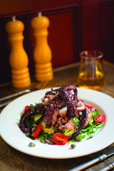 Octopus with Warm Potato Salad from Sette Luna