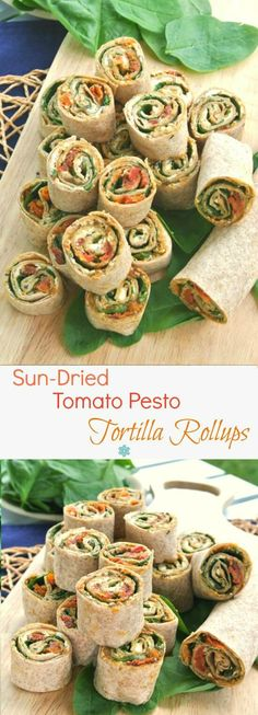 Tomato Recipes Sun-Dried Tomato Pesto Tortilla Rollups has layers of flavor and texture that only takes 15 minutes to prepare. Healthy appetizer that everyone loves. Healthy Appetizers, Appetizers For Party, Appetizer Recipes, Antipasto Recipes, Tapas Recipes, Sandwich Recipes, Whole Food Recipes, Cooking Recipes, Tortilla Pinwheels