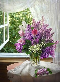 Beautiful Flower Arrangements, Beautiful Flowers, Flower Vases, Flower Art, Relaxing Art, Spring Aesthetic, Vase Arrangements, Good Morning Flowers, Floral Artwork