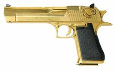 Gold-plated Desert Eagle Mark XIX - .50 AE.