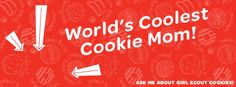 facebook cover photo: cool cookie mom.  This site has great 2013 Girl Scout cookie clip art!