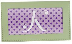 Leather-Like Checkbook Cover in Green, $1.83
