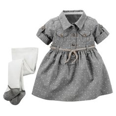 2-Piece Shirt Dress & Tights Set from Carters.com. Shop clothing & accessories from a trusted name in kids, toddlers, and baby clothes.