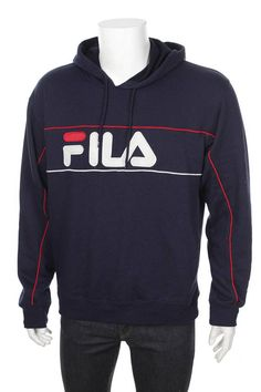 ff00bdf3c57 Vintage Death Stock FILA Hooded Sweatshirt Big Logo Spell Out Fila Jacket,  Hooded Sweatshirts,