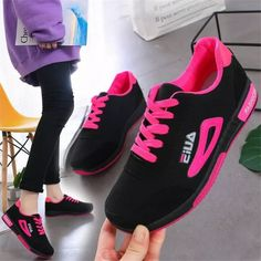2021 Sneakers Women Fashion Lace-up Women's Sneakers Ladies Casual Vulcanize Sports Running Women Shoes Zapatillas Mujer Femme Sneaker Outfits Women, Sneakers Women, Women's Sneakers, Womens Fashion Sneakers, Sneaker Brands, Running Women, Types Of Shoes, Size Model, Color Mixing