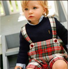 Tartan bib and braces for this little boy are just perfection Little Boy Outfits, Cute Outfits For Kids, Baby Boy Outfits, Baby Boy Christmas Outfit, Kids Christmas Outfits, Blue Christmas, Funny Christmas, Baby Boy Fashion, Toddler Fashion