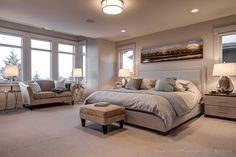 Gorgeous scrummy bedroom in this lovely Aspen listing in Calgary. Contact Rachelle Starnes to view and purchase!