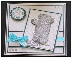 Tatty Ted Blue & White | docrafts.com