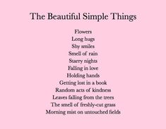 Beautiful Simple Things