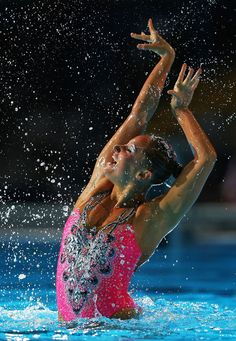 Chloe Isaac of Canada competes in the Synchronized Swimming Solo Technical final on day one of the 15th FINA World Championships at Palau Sant Jordi on July 20, 2013 in Barcelona, Spain.