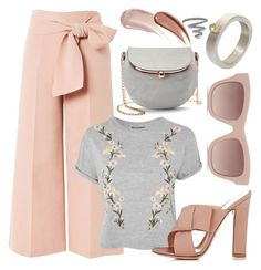 """🎀🎀🎀"" by avagoldworks ❤ liked on Polyvore featuring Topshop, Gianvito Rossi, STELLA McCARTNEY, LC Lauren Conrad, Wander Beauty, Yves Saint Laurent and avagoldworks"