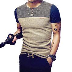 Polo Men Slim Fit Top &Tees Shirt Men's Patchwork Short Sleeve Casual Cotton shirts