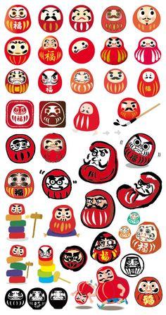 Japanese Boy, Japanese Culture, Enlightenment Tattoo, Manta Ray Tattoos, Japan Icon, Daruma Doll, New Year Art, Native American Symbols, Japanese Illustration