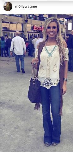 Lace Off The Shoulder blouse is a perfect choice to show off this necklace. Great Styling!