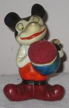 Mickey Mouse Look A Like Pin Cushion Bisque Porcelain Hand Painted Made ... - $118.29