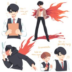 Ray's art blog : Photo   Jungkook as Touka and Taehyung as Kaneki!!!!!