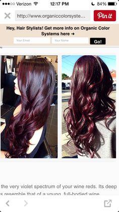 aubergine hair google search haarfarbe pinterest rotbraunes haar haarfarbe und haar. Black Bedroom Furniture Sets. Home Design Ideas