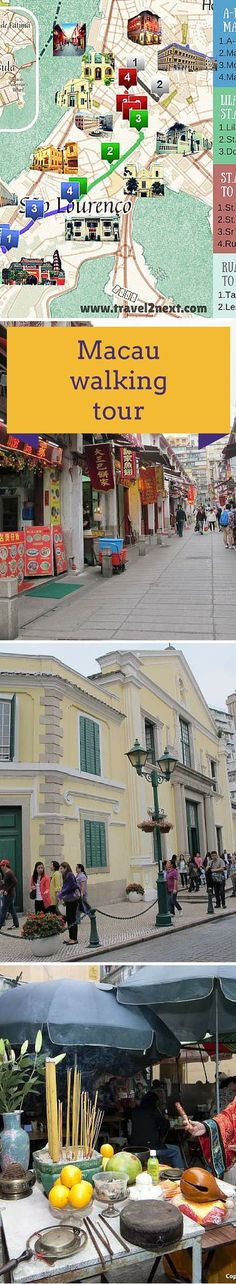 Macau map and walking tour of Penha Peninsula