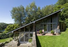 An unusual modernist house in a small hamlet in Dorset, England.