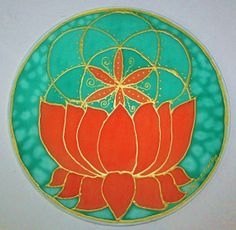 Orange Lotus mandala, chakra art, spiritual art, yoga art, sacred geometry,seed of life art,  metaphysical, new age, mandala art
