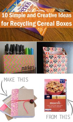 10 Simple and Creative Ideas for Recycling Cereal Boxes