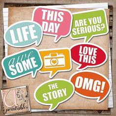 "Free Project Life ""Word Bubbles"" printables from UPrintables"