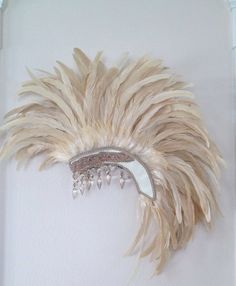 MADE TO ORDER Off White Cream Wedding Feather by StraightLacedSF, $375.00