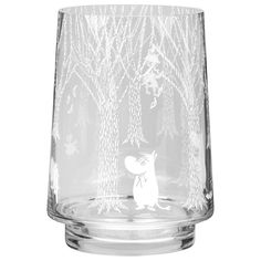 In the Woods lantern/vase 20 cm from Muurla - NordicNest.com Wood Vase, Tree Trunks, Moomin, Snow Globes, Flower Arrangements, Lanterns, Woods, Candle Holders, Candles
