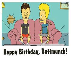 Beavis and Butthead Birthday Card by whattherock on Etsy