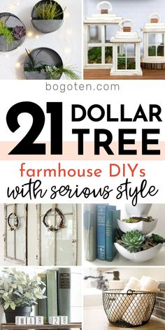 Dollar Tree Farmhouse DIYs They'll Think Cost a Fortune! (With images) | Dollar tree diy crafts, Diy