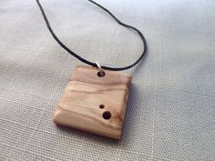 Wood jewelry. Necklace with wooden pendant. by Melcreationsbois