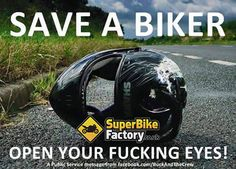 Save a biker! Car Quotes, Biker Quotes, Funny Quotes, Motorcycle Memes, Motorcycle Posters, Easy Rider, Super Bikes, Amazing Cars, Bike Life
