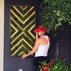 Wood and Preserved Moss Wall Art Chevron Design Geometric wall Decor Moss Wall Handing Green Scape Wooden Wall Art, Diy Wall Art, Home Decor Wall Art, Chevron Wall Art, Geometric Wall, Chevron Walls, Moss Wall Art, Moss Art, Moss Decor