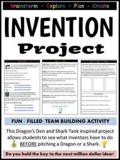 Classroom Creative Invention Project (explore, plan, create!)