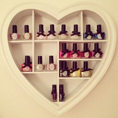 cute nail polish storage. But mine would need to be 10x that size ;)