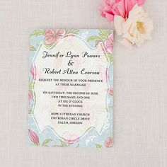 Refreshing Floral Boho Summer Wedding Invitations as low as $0.94