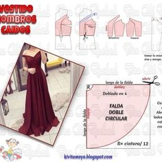 Free Pattern for an 18 doll No photo description available. Evening Dress Patterns, Dress Sewing Patterns, Clothing Patterns, Simple Dress Pattern, Gown Pattern, Barbie Clothes, Sewing Clothes, Fashion Sewing, Diy Fashion