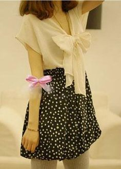 Elegant Dress with Large Butterfly Knot